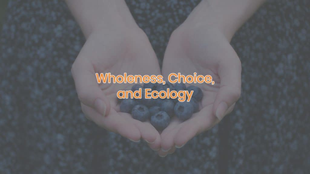 Wholeness, Choice, and Ecology